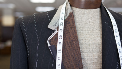 photo of man's suit being made