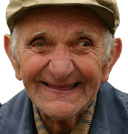 Photo of happy old man