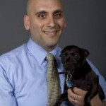Ray Zakhari with therapy dog